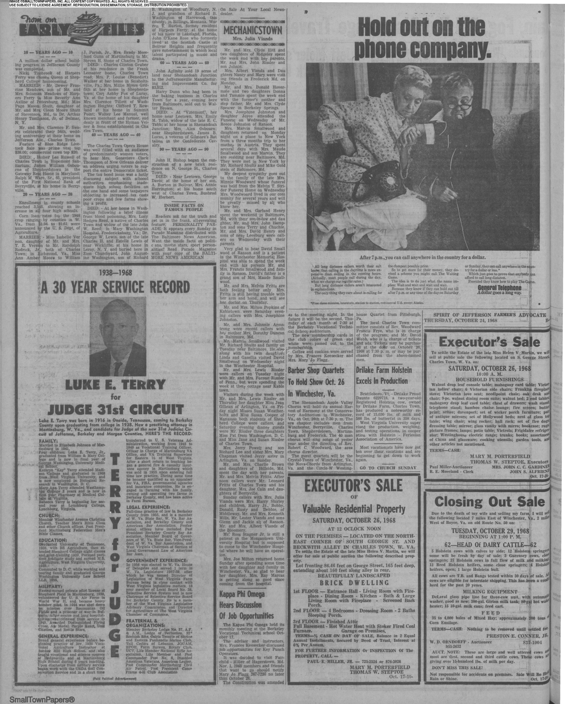 Spirit Of Jefferson Farmers Advocate October 24 1968 Page 10