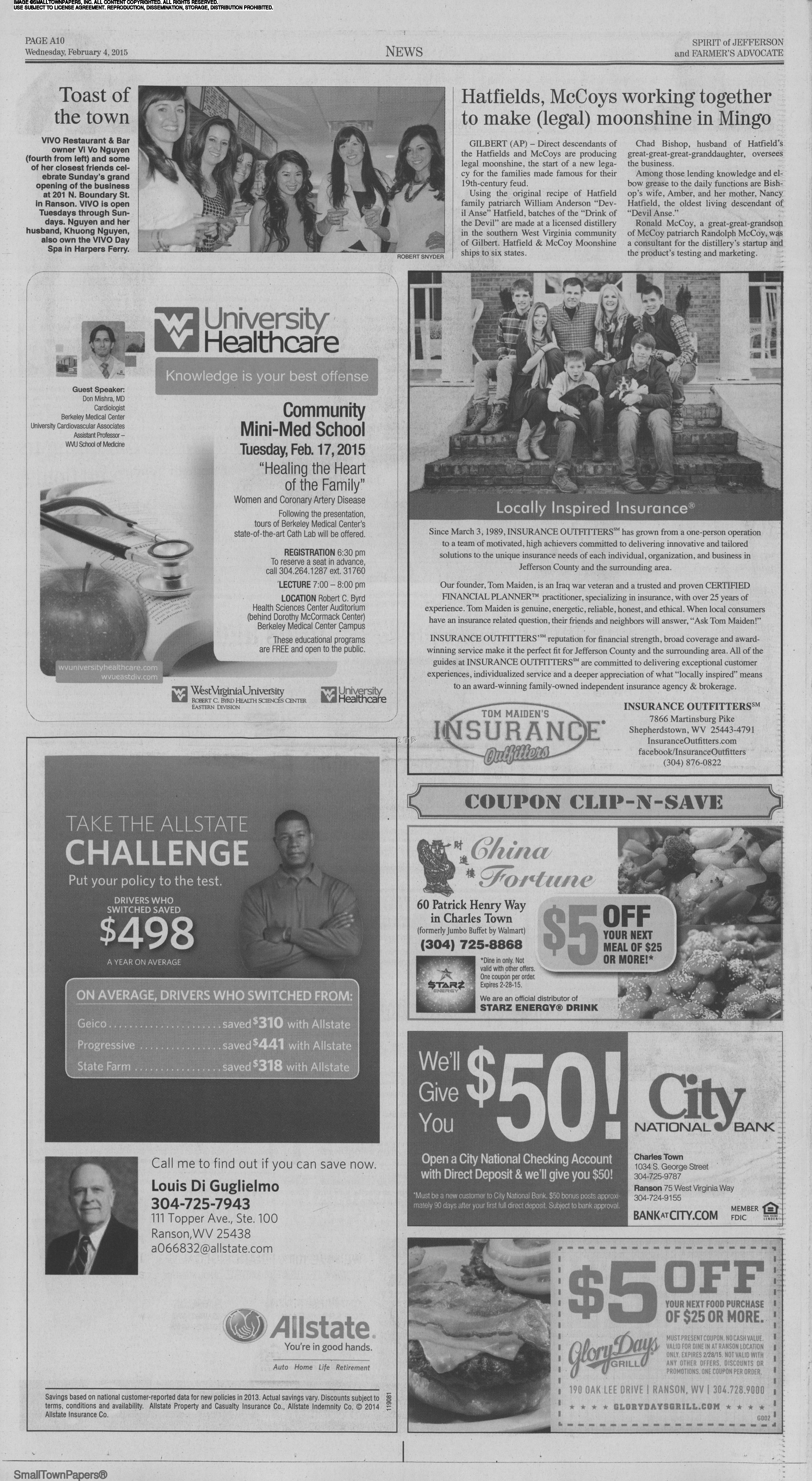 Spirit Of Jefferson Farmers Advocate February 4 2015 Page 10
